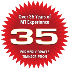 Over 35 years of medical transcription service and experience